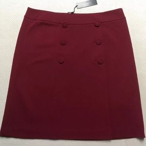 Talbots Size 14p Burgundy Skirt